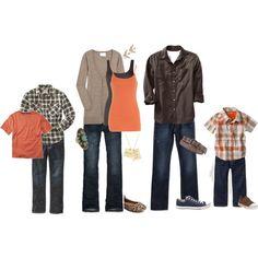 Orange & brown, created by randglopez on Polyvore