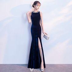 Evening Dresses Uk Cheap Long Dress Fashion New! Long Gown Elegant, Elegant Dresses, Cute Dresses, Beautiful Dresses, Girls Dresses, Prom Dresses, Formal Dresses, Blue Evening Dresses, Long Evening Gowns