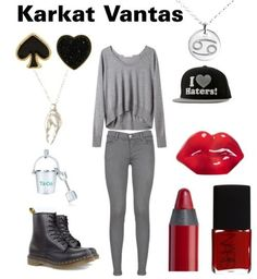 outfits based off of | fashionstuck | Fashionstuck set inspired by Karkat Vantas as requested ...