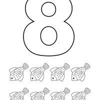 Desenho De Numero 8 Com Figuras Para Colorir Figuras Para