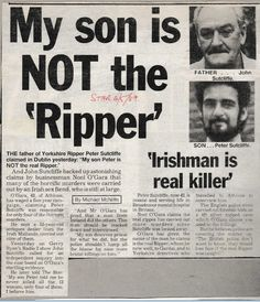 John Sutcliffe called for a reinvestigation Peter Sutcliffe, Yorkshire, Father, Pai, Yorkshire England