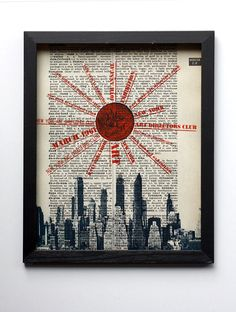 New York City Skyline 1960's Exhibition Reproduction Dictionary Book Page Print.  scarletbeautiful on etsy (10 dollars)