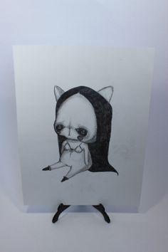 shepurr  Solitude original drawing pencil on paper by ShePurr, €55.00