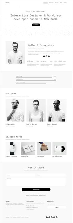 Manuel is a minimal design responsive #HTML #bootstrap template for #creative designers, developers and freelancers website download now➩ https://themeforest.net/item/manuel-personal-html-template/19620190?ref=Datasata