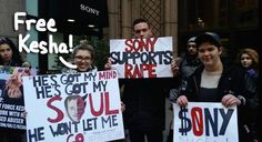 Kesha Fans Make Good On Their Promise To Protest Sony HQ During The Ongoing Dr. Luke Controversy — See The Pics!
