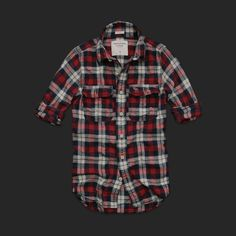 red plaid/check shirt