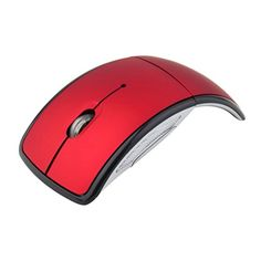 3634542744e Amazon.com: Generic 2.4G Snap-in Transceiver Fold Wireless Mouse Cordless  Mice USB Folding Mouse Red: Cell Phones & Accessories