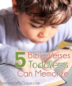 5 Scripture Memory Verses for Toddlers 5 Bible Verses Toddlers Can Memorize - Intentional By Grace Toddler Bible Lessons, Bible Verses For Kids, Bible Verses For Children, Teaching Children Quotes, Teaching Kids, Quotes Children, Kids Learning, Teaching Resources, Toddler Sunday School