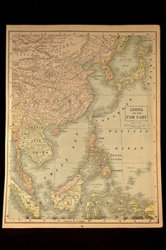 Antique Map China and The Far East Japan Korea Philippines