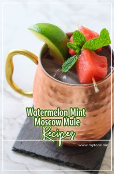 This Best Recipes Recipes . Bring joy to my kitchen! Lunch Smoothie, Fruit Smoothies, Chocolate Cheescake, Moscow Mule Recipe, Watermelon Mint, Vegetarian Lunch, Red Fruit, Quick Recipes, Clean Eating Snacks