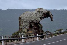 Roccia dell'elefante a Castelsardo in Sardegna Italia
