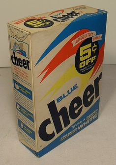 BLUE CHEER Detergent Box 1960s  This made your clothes smell soooo good.  I can smell it now.  (It's not the same smell now.)