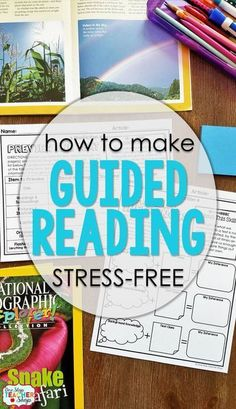Guided Reading shouldn't be stressful! Using fiction and nonfiction activities that can be paired with any text made guided reading groups a breeze. Independent reading time, too. Guided Reading Lesson Plans, Guided Reading Levels, Reading Skills, Reading Centers, Guided Reading Binder, Guided Reading Strategies, Reading Stations, Literacy Stations, Reading Resources
