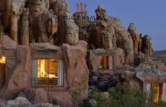 Enjoy the scenic beauty and romantic allure of one of South Africa's most luxurious resorts, Kagga Kamma Private Game Reserve. - this is in SOUTH AFRICA? Places Around The World, Oh The Places You'll Go, Places To Travel, Places To Visit, Around The Worlds, Travel Destinations, Dream Vacations, Vacation Spots, Vacation Travel