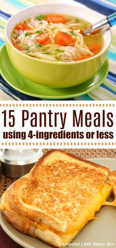 Check out this list of 15 Cheap Pantry Meals that use only or less for a quick guide on getting dinner on the table fast! Easy Cheap Dinner Recipes, Quick Cheap Meals, Cheap Easy Healthy Meals, Easy Meals To Cook, Quick Meals For Two, Quick Meals For Dinner, Cheap Family Dinners, Cheap Meals For Two, Cheap Recipes