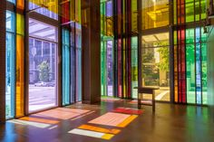 gethsemane lutheran church by olson kundig architects - minimal stained glass Beautiful Architecture, Interior Architecture, Interior And Exterior, Commercial Interior Design, Commercial Interiors, Building Facade, Glass Building, Interesting Buildings, Lutheran
