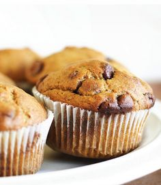 Insanely Delicious Pumpkin Chocolate Muffins | The Stir:  http://thestir.cafemom.com/food_party/144260/insanely_delicious_pumpkinchocolate_muffins