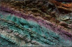 Gran Canaria oxidized rock layers of Fuente de los Azulejos, Gran Canaria, Canary Islands - by Marcel Kraan