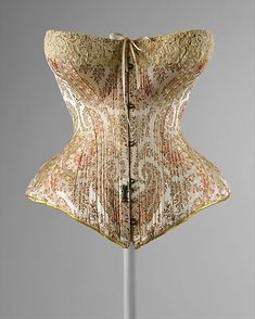 French silk corset, c.1891.