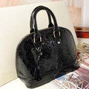 $11.49 New Style Fashion Solid Zipper Black Leather Clutches Bag