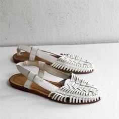 feeling these white HUARACHE sandals