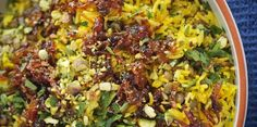 Moudardara: Lebanese Rice and Lentils