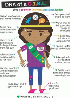 DNA of a Girl Scout. This is why Girl Scouts rocks!