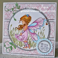 the Silver Fairy image (from Wee Stamps),