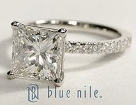 "Petite Pave Princess Cut Diamond Engagement Ring in Platinum #BlueNile"" data-componentType=""MODAL_PIN"
