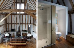 East Barn living and en suite Pocknell Studio Architectural & graphic design