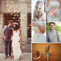 Earthy eclectic wedding attire