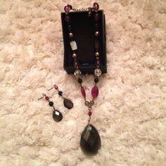 Lia Sophia purple necklace and earrings set One of my favorite pieces of Lia Sophia Lia Sophia Jewelry