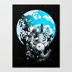 """""""The Lost Astronaut"""" Canvas Print by Carbine on Society6."""