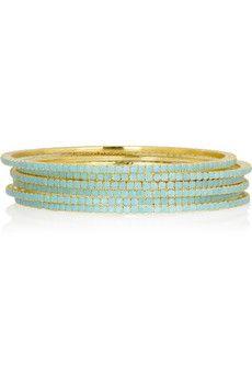 turquoise bangles...