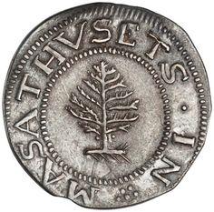Silver shilling, Boston (Mass.), 1652. 1944.94.2