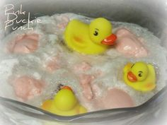 Pink Duckie Punch Recipe for a girl baby shower