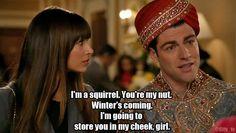 :) Schmidt,Cece & GOT reference (Winter is coming) :D Make Em Laugh, Live Laugh Love, Make Me Smile, Funny Shit, Funny Stuff, Hilarious, Tv Quotes, Movie Quotes, Schmidt Quotes