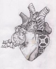 corazon humano dibujo a lapiz - Cerca con Google