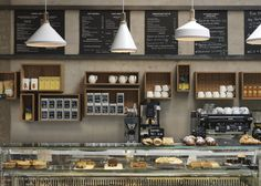 Cornerstone Cafe, London. Charlotte Minty Interior Design