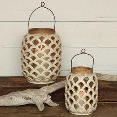 HomArt Sirena Ceramic Lantern