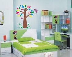 Contemporary Kids Furniture Design – Use an instruction chair to create a … - Modern Decor Green Bedroom Design, Kids Bedroom Sets, Small Bedroom Designs, Bedroom Green, Girls Bedroom, Kids Room, Bedroom Ideas, Master Bedroom, Ikea Bedroom