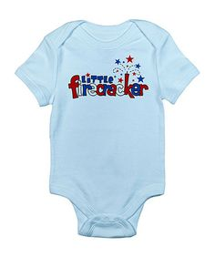 Take a look at this Blue 'Little Firecracker' Bodysuit - Infant by CafePress on #zulily today!