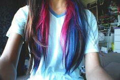 Amazing Hair!  #blue_hair #hair #long_hair #pink_hair