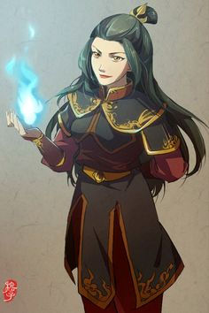 Azula princess of the fire nation. She looks too nice in this picture. Too benign.