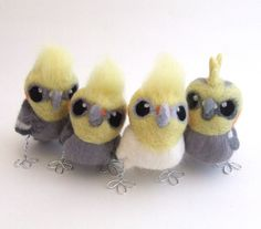 Cockatiels by feltmeupdesigns on etsy