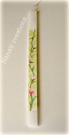 Painted Easter candle