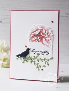 Stampin' Up! - Botanical Bliss- CAS on Friday - Happy Stampin' Bee Cards, Stampinup, Stamping Up Cards, Die Cut Cards, Paper Cards, Flower Cards, Homemade Cards, Making Ideas, Bliss