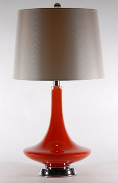 This orange lamp needs a place at our office!