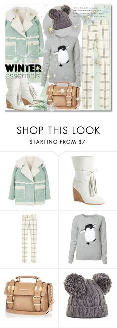 """Winter Essentials"" by petri5 ❤ liked on Polyvore featuring Jeffrey Campbell, Derek Lam, River Island and BCBGMAXAZRIA"