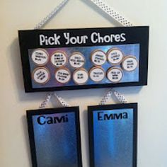 A do it yourself magnetic chores list for kids....brilliant.